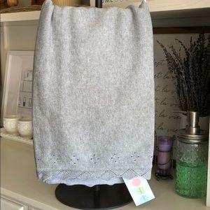 Angel Dear Pointelle Knit Blanket